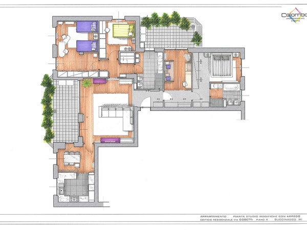 Progettazione appartamento Buccinasco